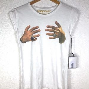 NWT Happiness Is A $10 Tee C15